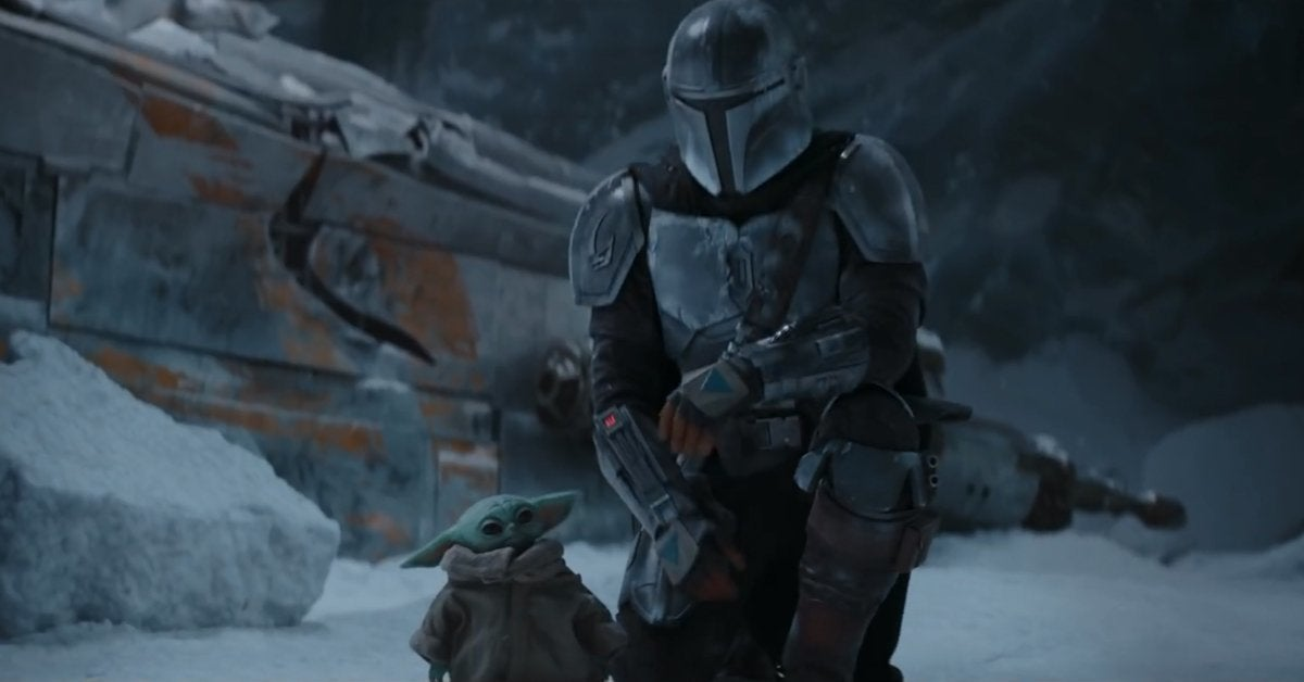 star wars the mandalorian season 2 baby yoda snow 2