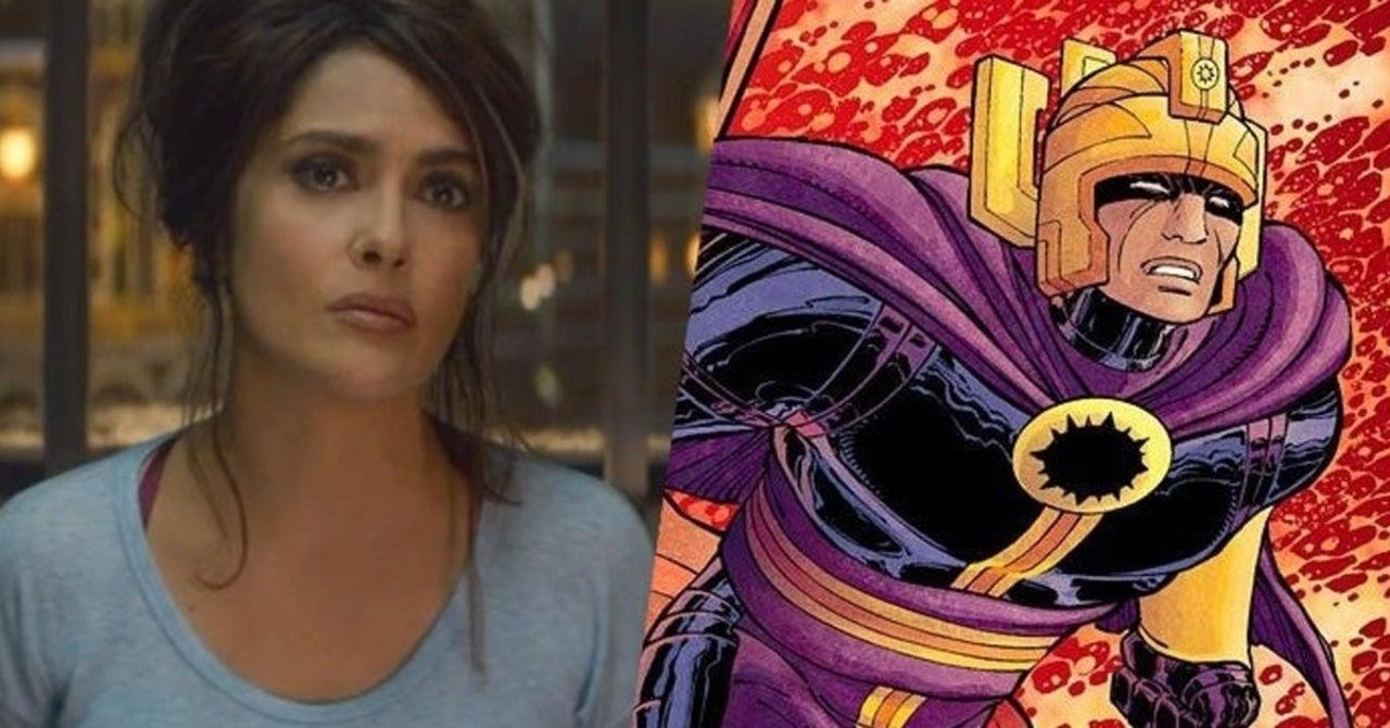 The Eternals Marvel Figure Reveals Best Look Yet At Salma Hayek S Ajak
