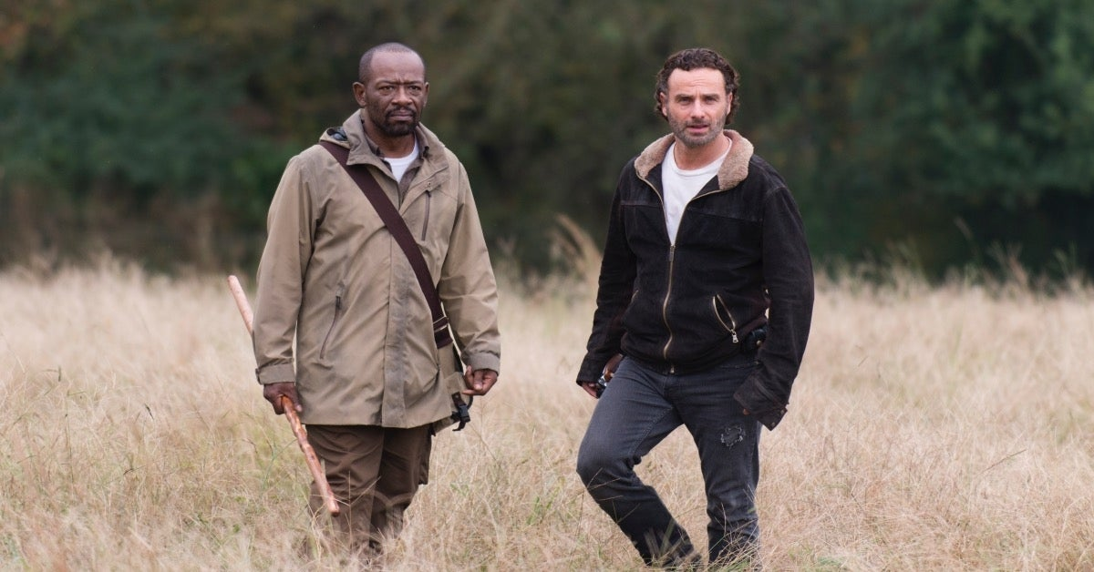 The Walking Dead Lennie James Morgan Jones Andrew Lincoln Rick Grimes