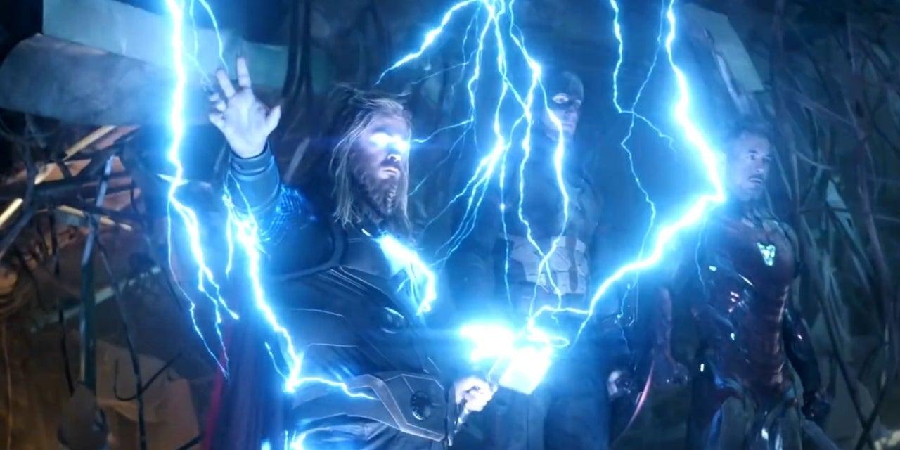 thor lightning scene avengers endgame