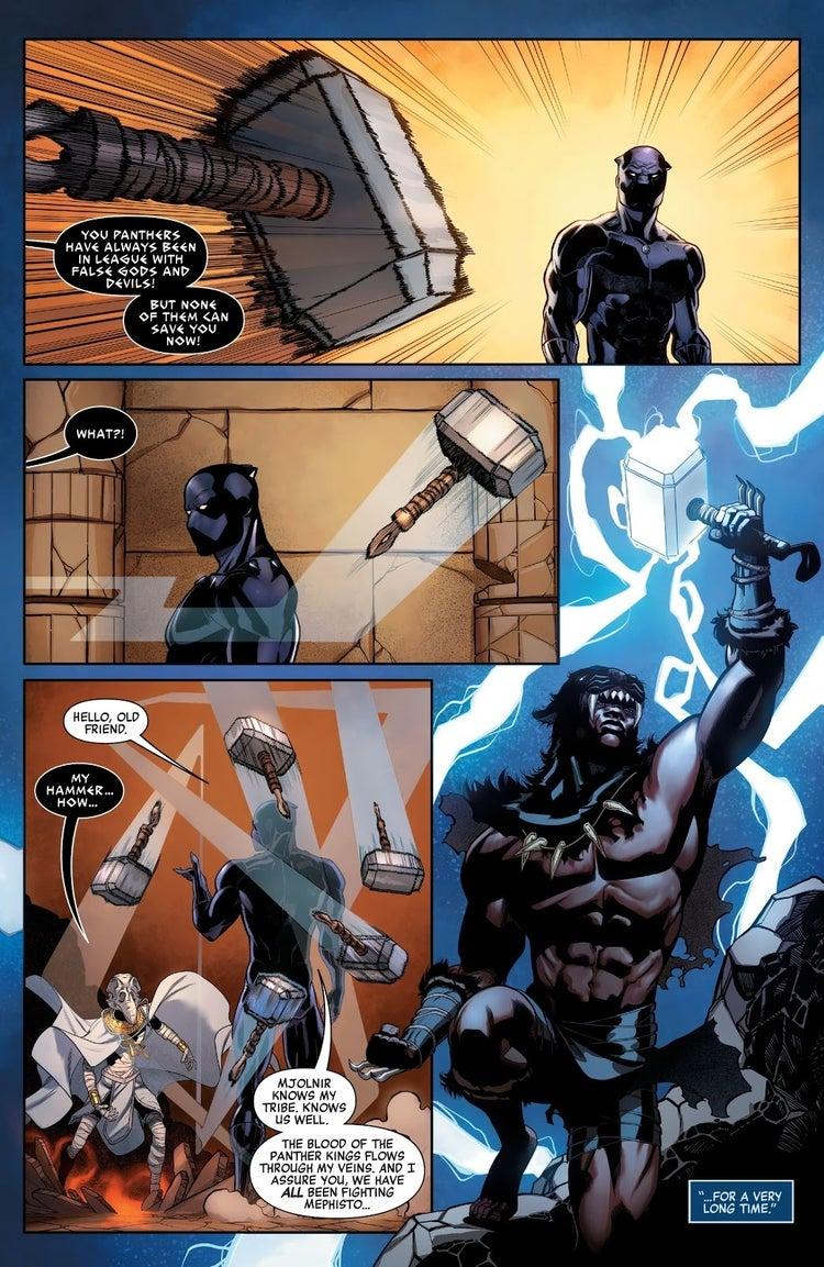 avengers 36 black panther mjolnir