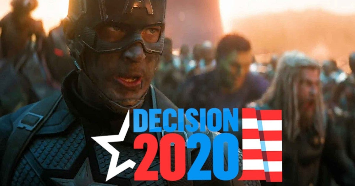 Avengers Endgame Election Vote 2020 Biden Trump Mashup