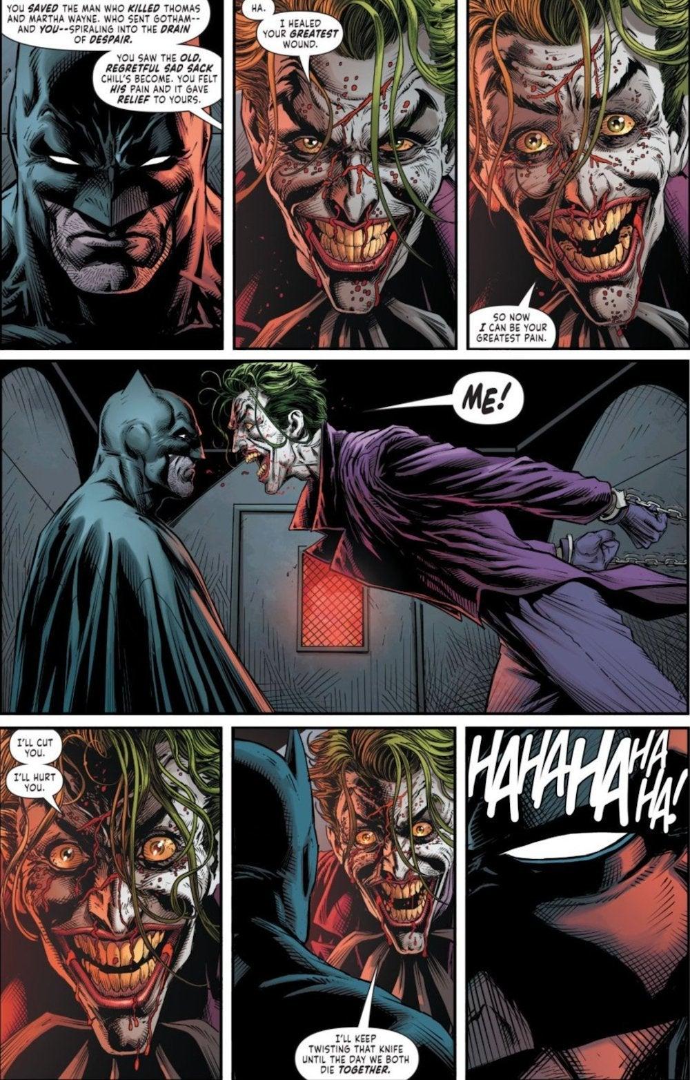 Batman Three Joker Ending Batman The Comedian Conversation