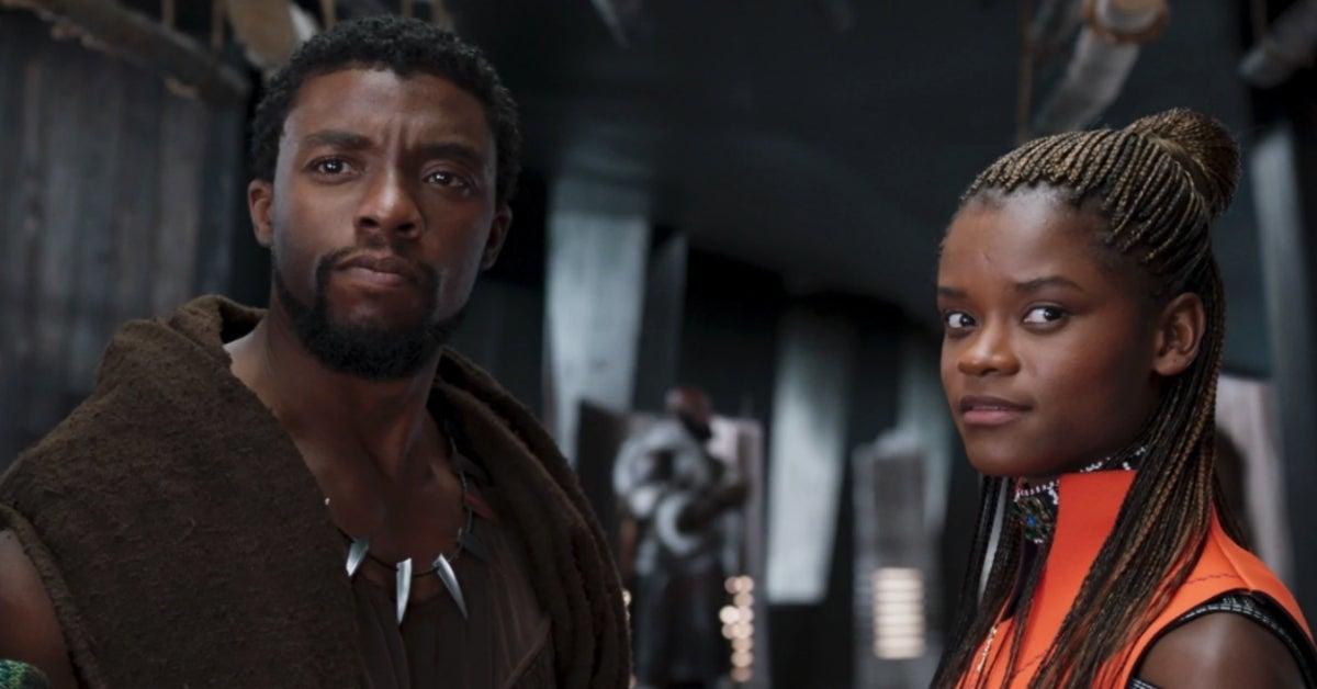 Black Panther Chadwick Boseman Letitia Wright
