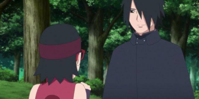 Boruto Naruto Sasuke Sarada Uchiha Family Training Anime Spoilers