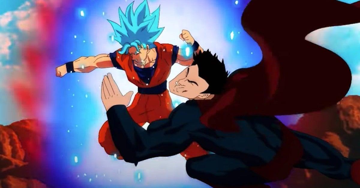 Dragon Ball Goku vs Superman Sketch Artwork DC Comics