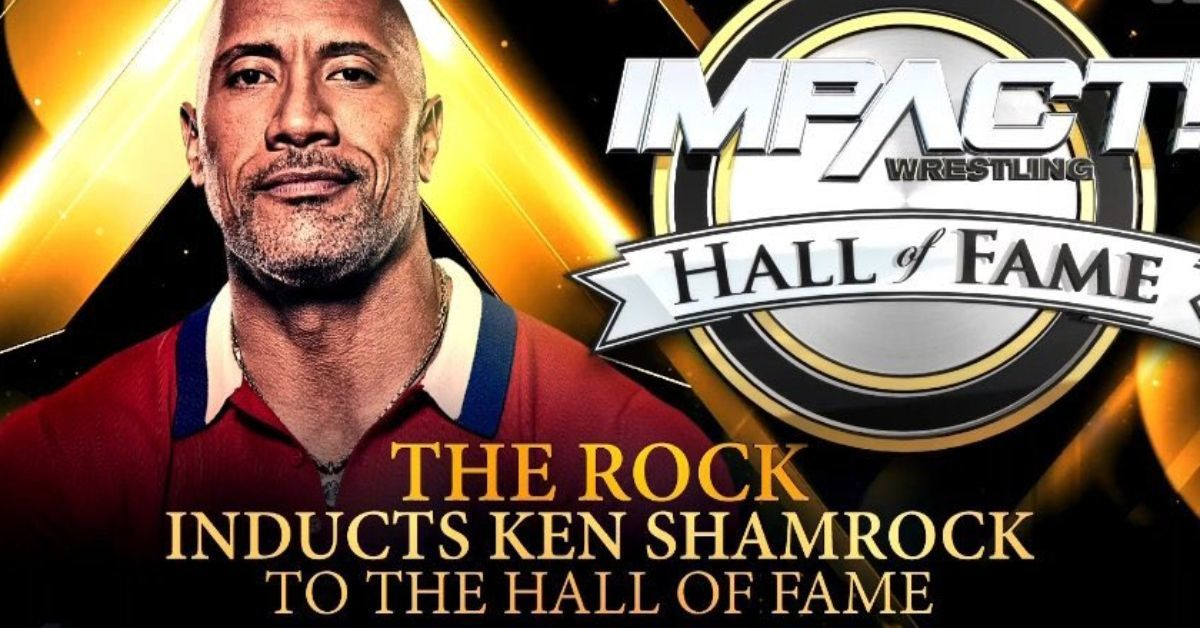 Dwayne The Rock Johnson Impact Wrestling Appearance Ken Shamrock Hall of Fame