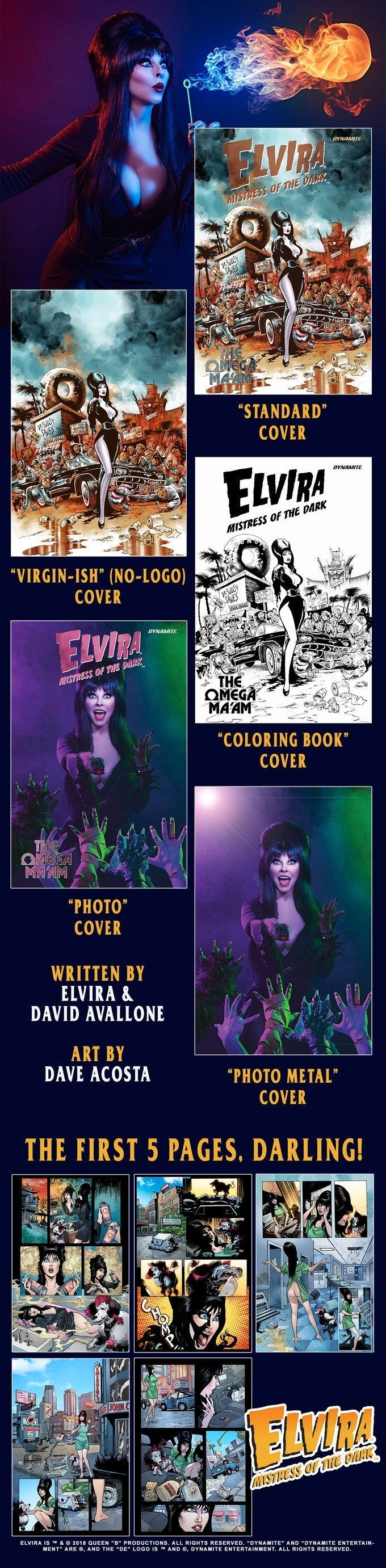 elvira omega ma'am comic book kickstarter