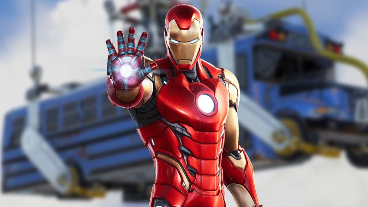 Fortnite Iron Man Battle Bus