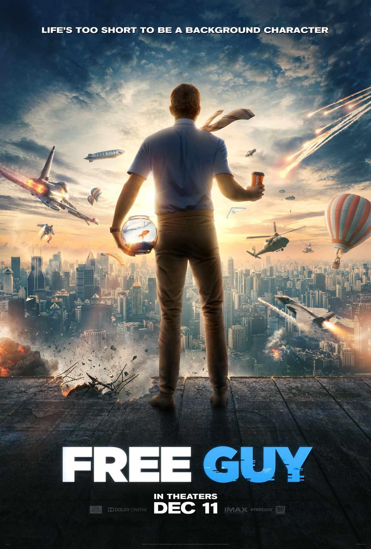 Free Guy Movie Poster Ryan Reynolds