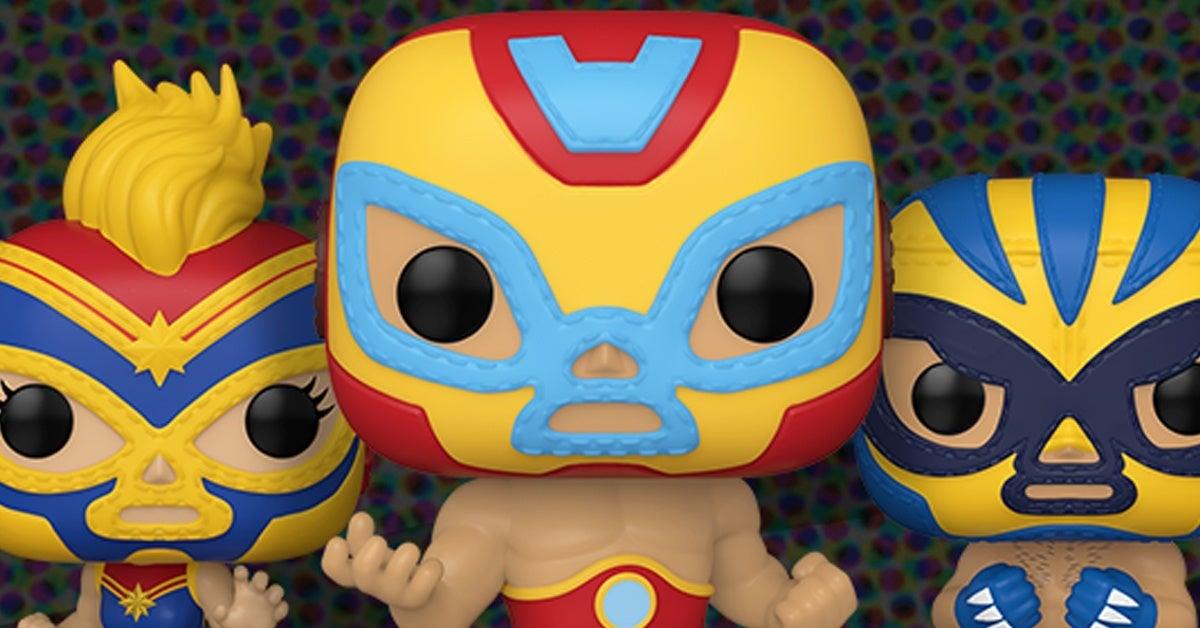 Funko-Marvel-Pop-Lucha-Libre-Iron-Man-Captain-Marvel-Wolverine