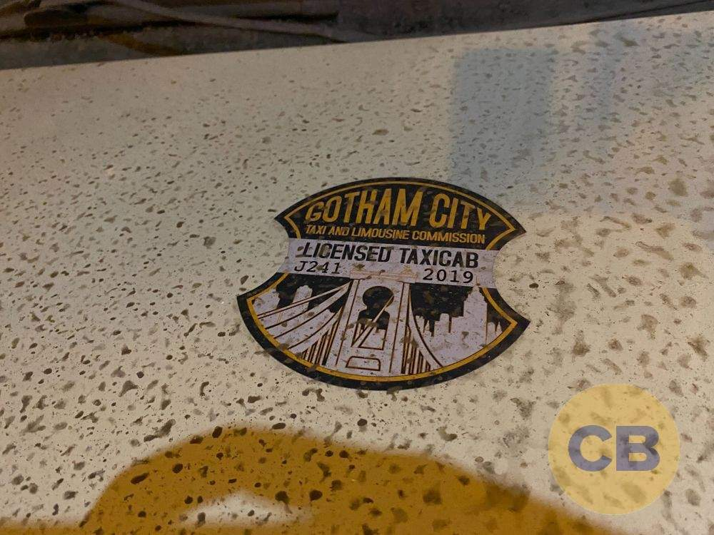 gotham city taxi cabs the batman CB
