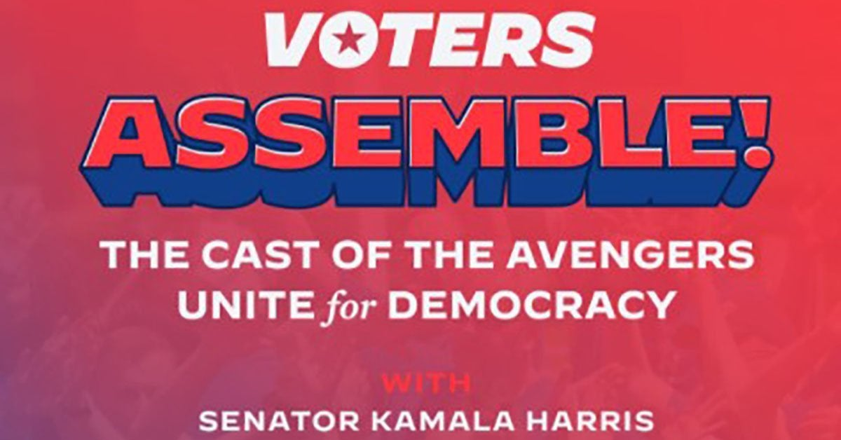 joe biden avengers voters assemble event