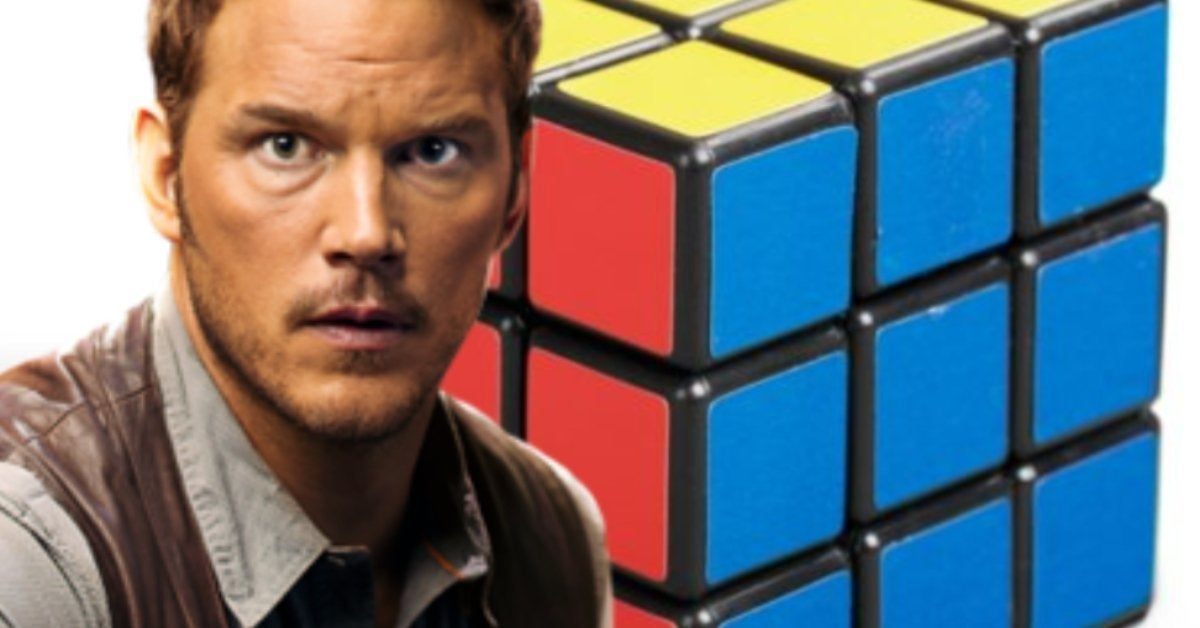 Jurassic World Dominion Chris Pratt Rubiks Cube