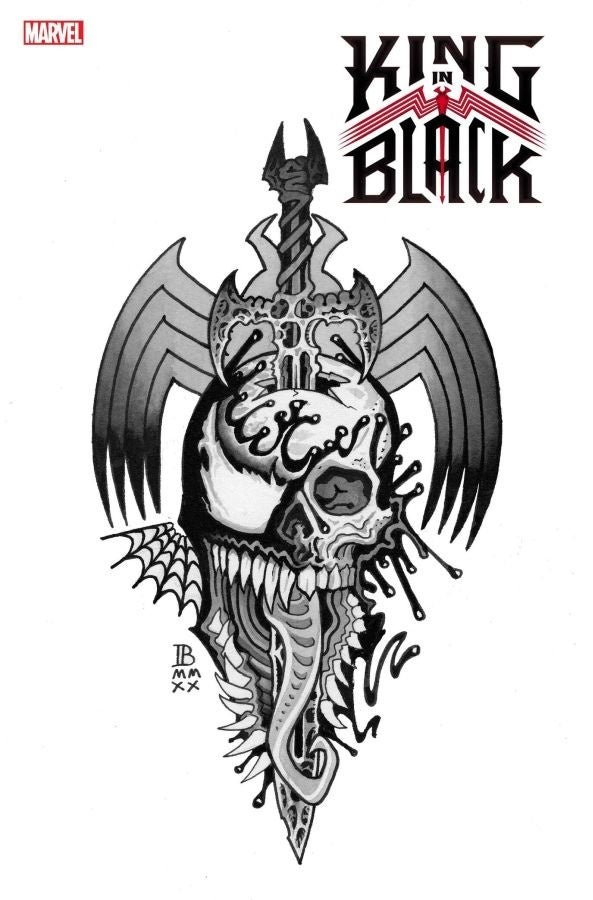 KING IN BLACK #1 TATTOO VARIANT COVER by IAN BEDERMAN