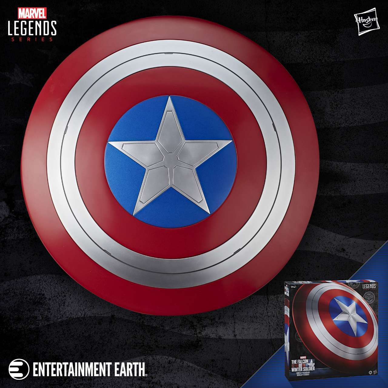 The Falcon and the Winter Soldier Marvel Legends Prop Replica Shield is Live