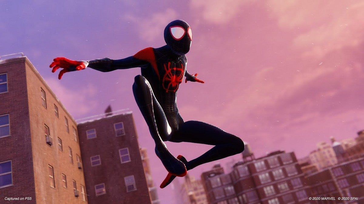Marvel's Spider-Man Miles Morales Into the Spider-Verse Suit