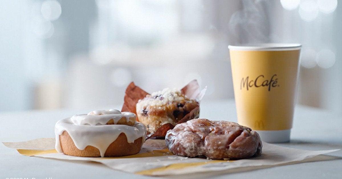 McDonalds Breakfast New Items Blueberry Muffin Apple Fritter Cinnamon Roll