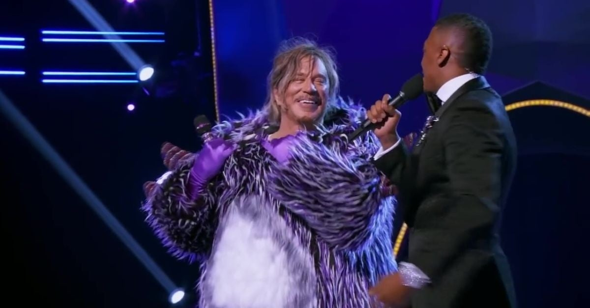 mickey rourke the masked singer