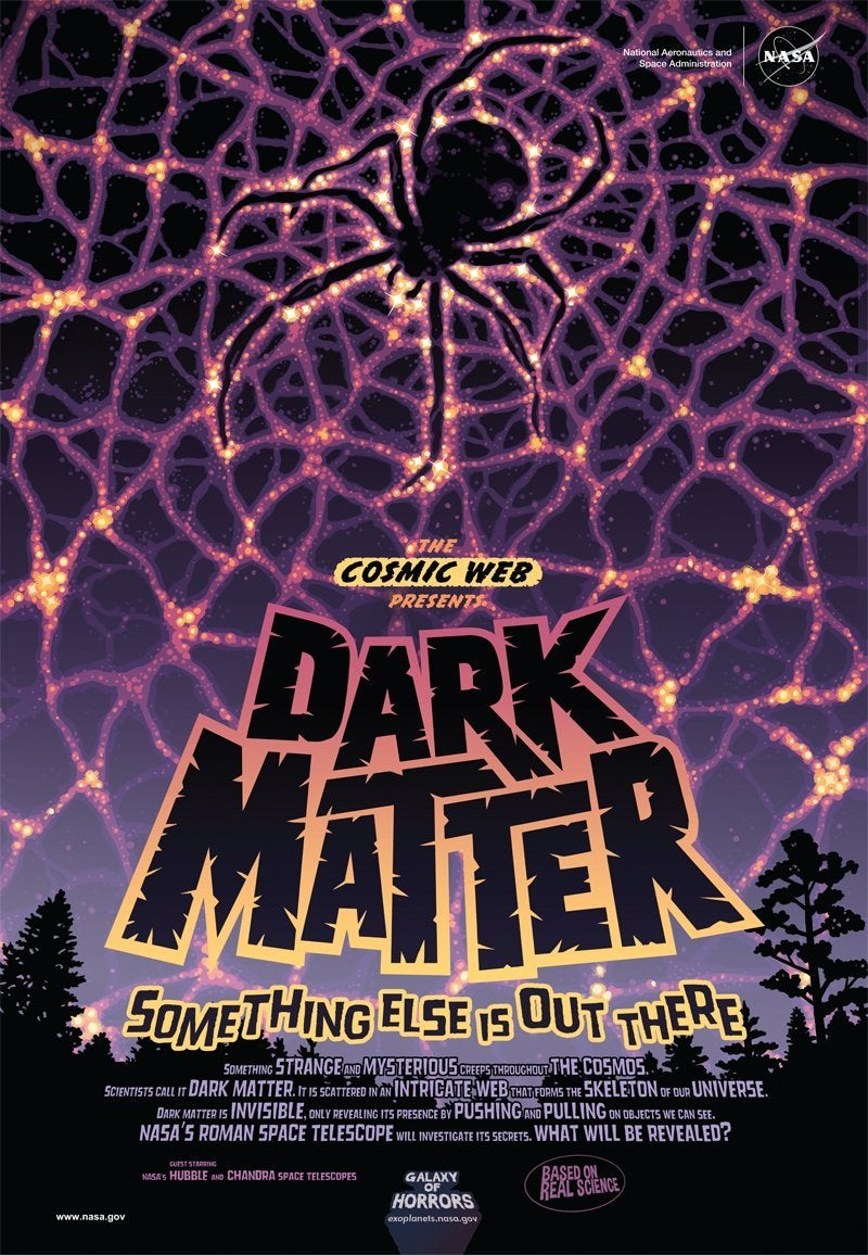 nasa dark matter poster horror