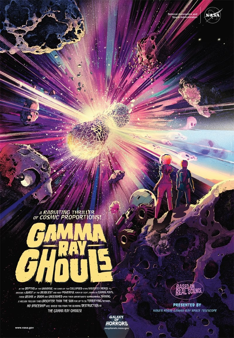 nasa gamma ray ghouls poster horror