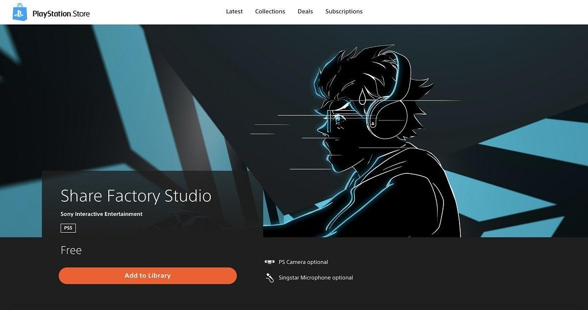 PlayStation 5 Share Factory Studio