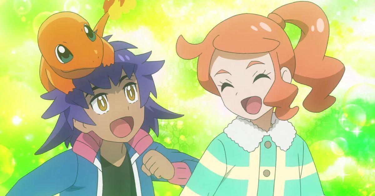 Pokemon Journeys Leon Sonia as Kids Anime