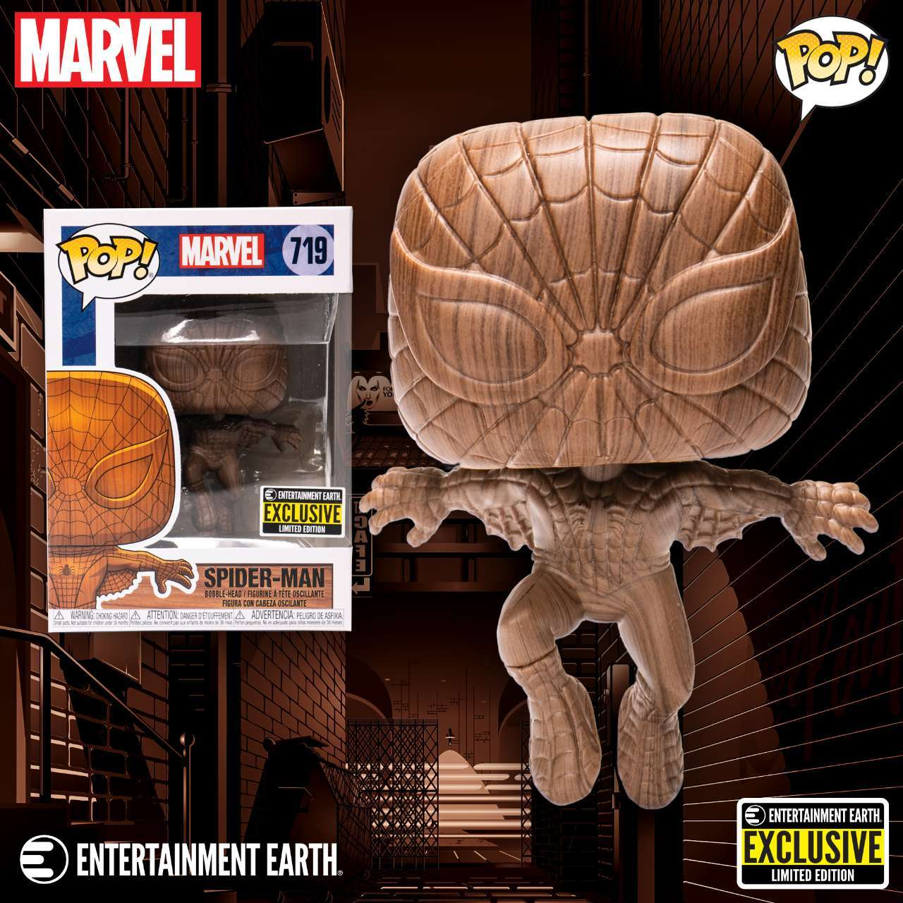 Funko Adds Spider-Man to the Exclusive Marvel Wood Deco Pop Figure Line