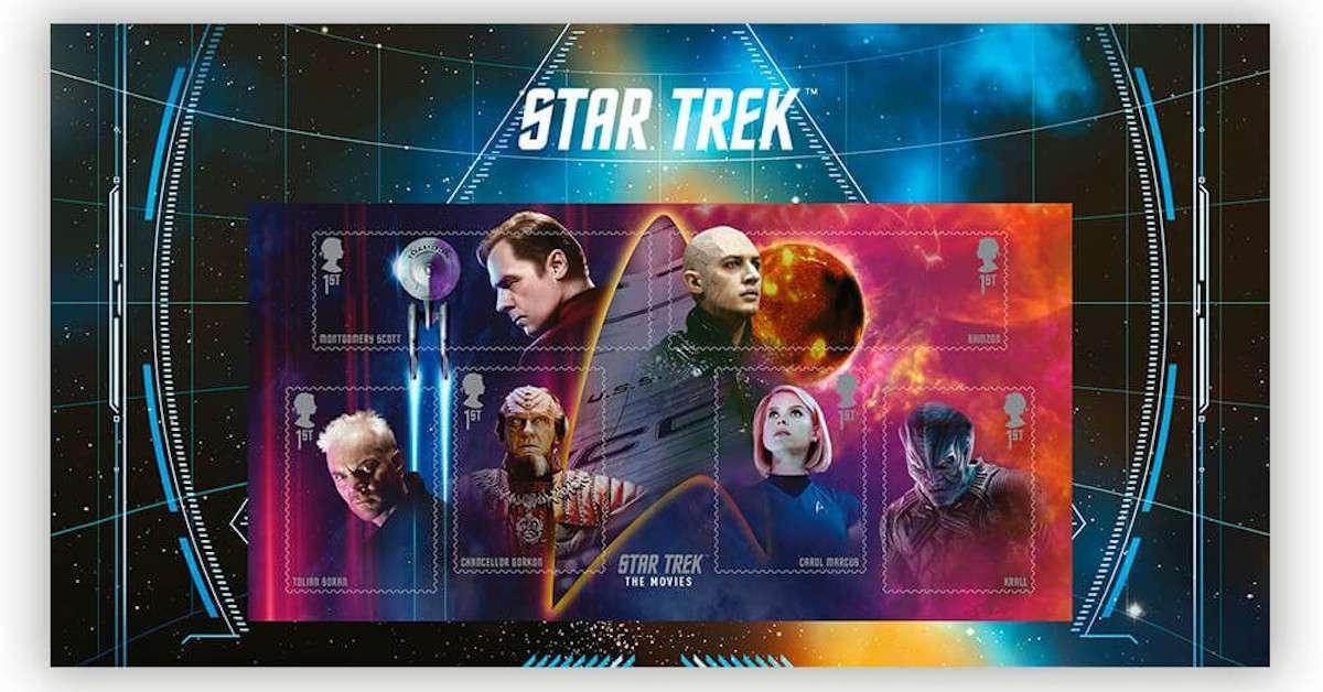 Star Trek Royal Mail Movie Stamps