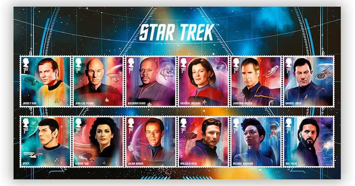 Star Trek Royal Mail Stamps