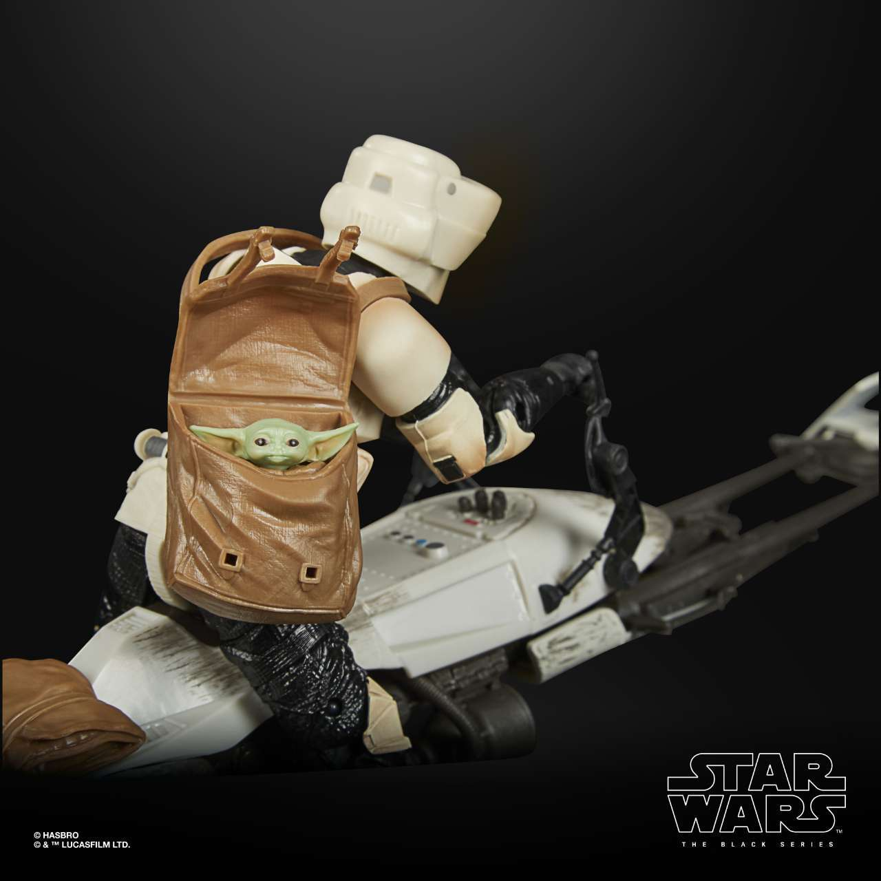 STAR WARS THE BLACK SERIES 6-INCH SPEEDER BIKE SCOUT TROOPER Figure & Vehicle Set - oop (6)