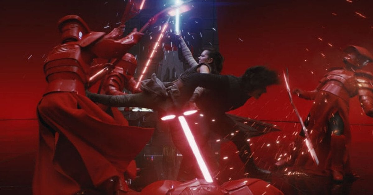 star wars the last jedi throne scene kylo ren rey 2017