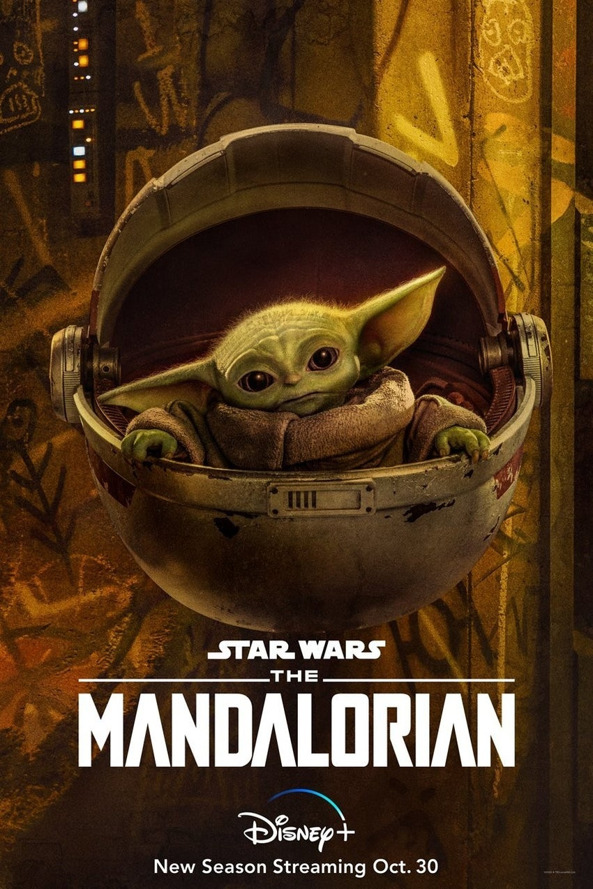 Star Wars The Mandalorian Season 2 Character Posters Baby Yoda