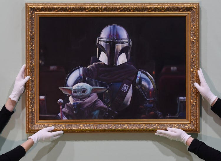 star wars the mandalorian the child national portrait gallery