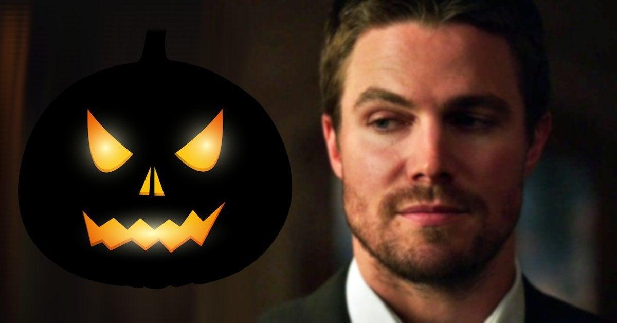 Stephen Amell NSFW Halloween Pumpkin Carving 2020