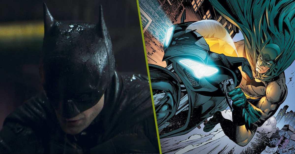 The Batman Batcycle Chase Scene Photos
