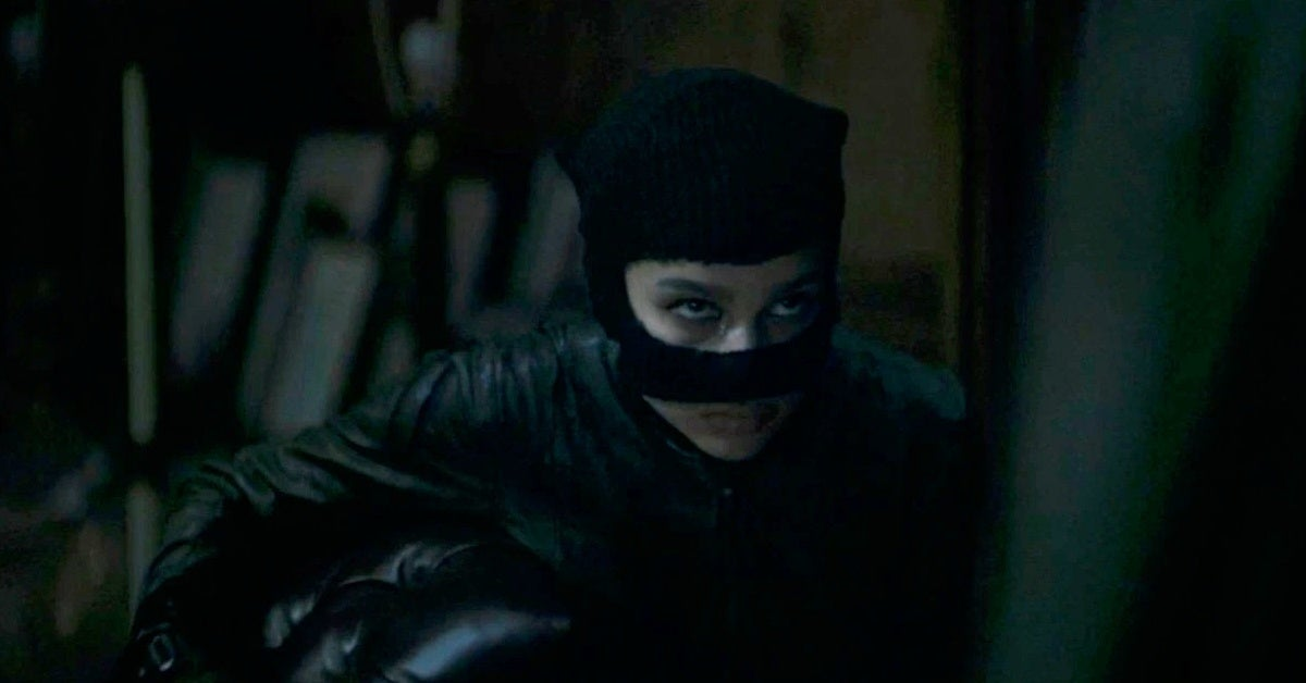 the batman trailer catwoman zoe kravitz