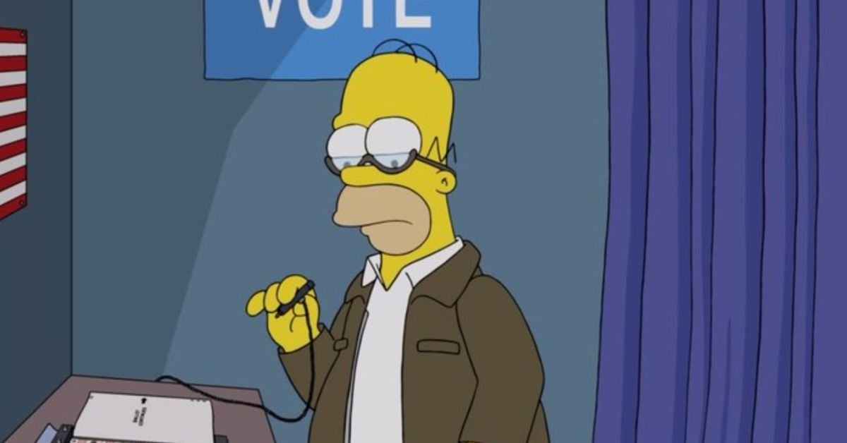 the simpsons treehouse of horror presidential election
