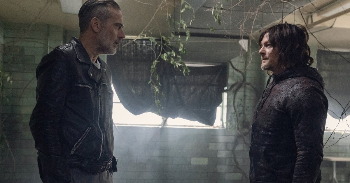 The Walking Dead Daryl Negan Norman Reedus Jeffrey Dean Morgan
