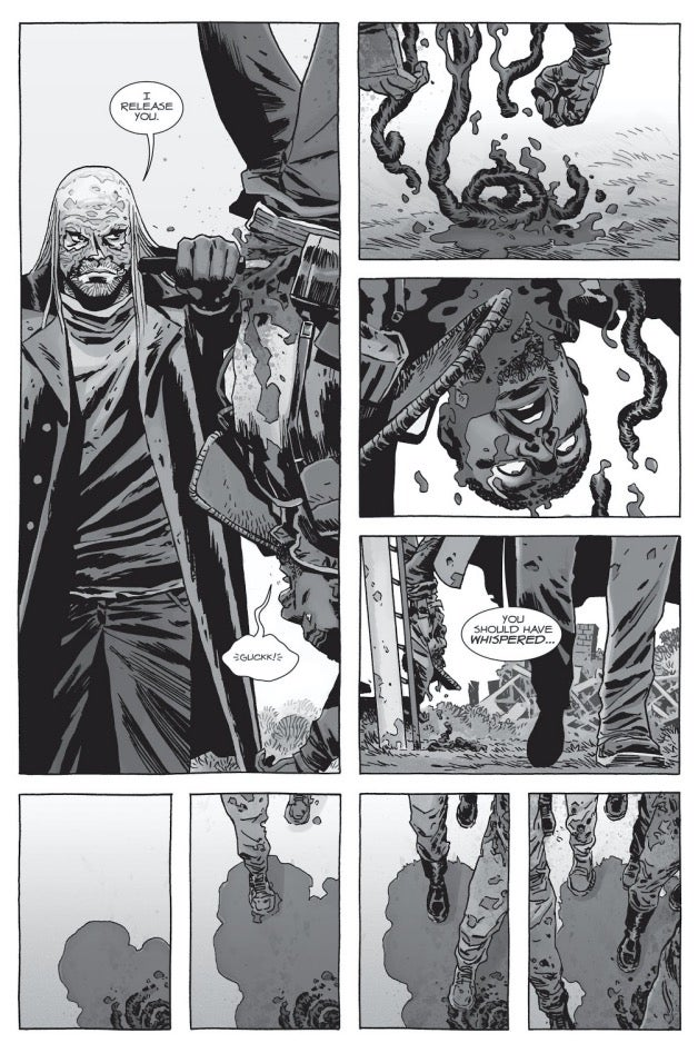 The Walking Dead Father Gabriel dies comic book
