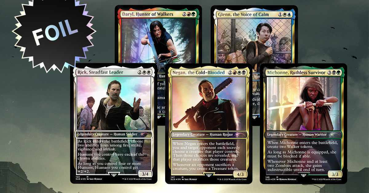The Walking Dead Magic the Gathering Secret Lair Cards On Sale