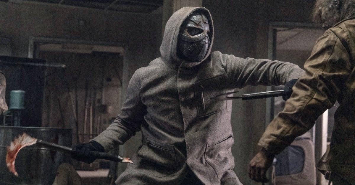 The Walking Dead Season 10 metal masked man
