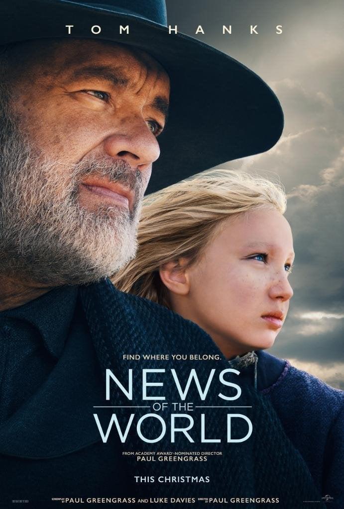 News of the World | Veja o pôster do novo filme de Tom Hanks