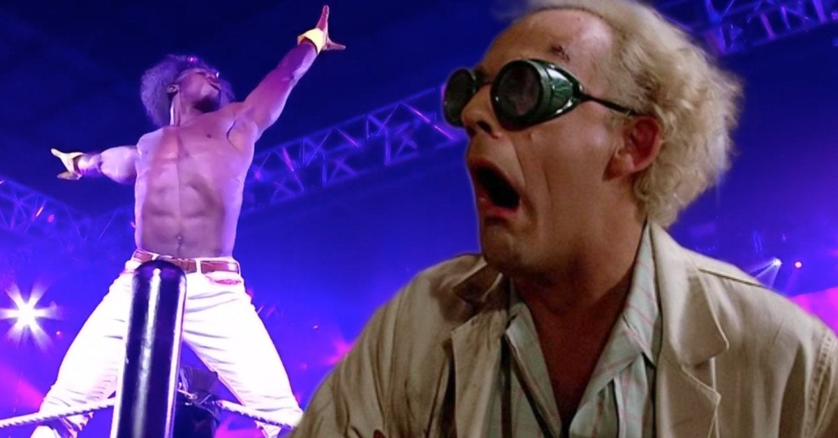 Velveteen Dream WWE NXT TakeOver 31 Back to the Future Doc Brown Gear