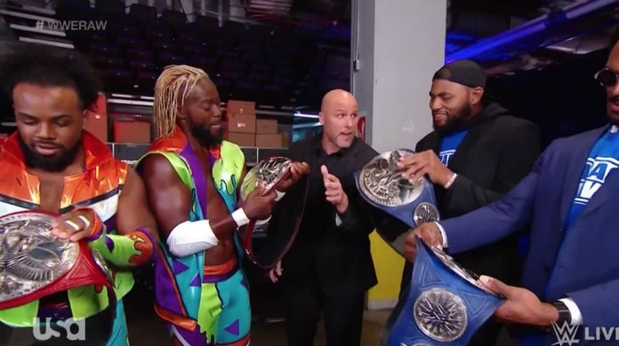 WWE-New-Day-Street-Profits-Championship-Swap