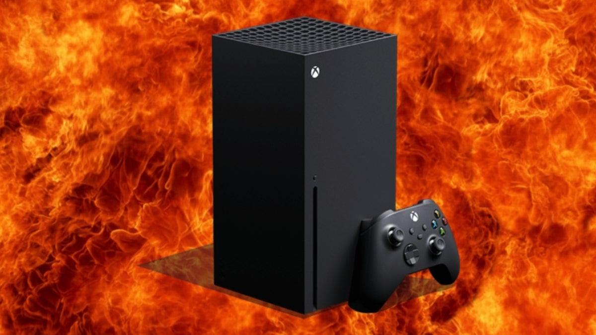 xbox series x fire