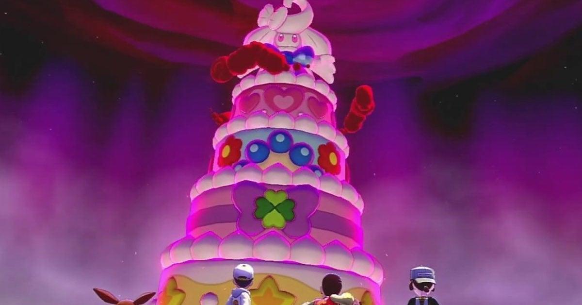 alcremie pokemon cake
