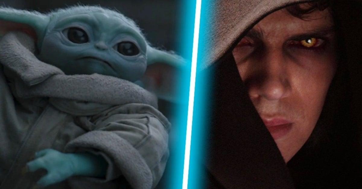 Baby Yoda Grogu Mandalorian Star Wars Revenge of the Sith Darth Vader COMICBOOKCOM