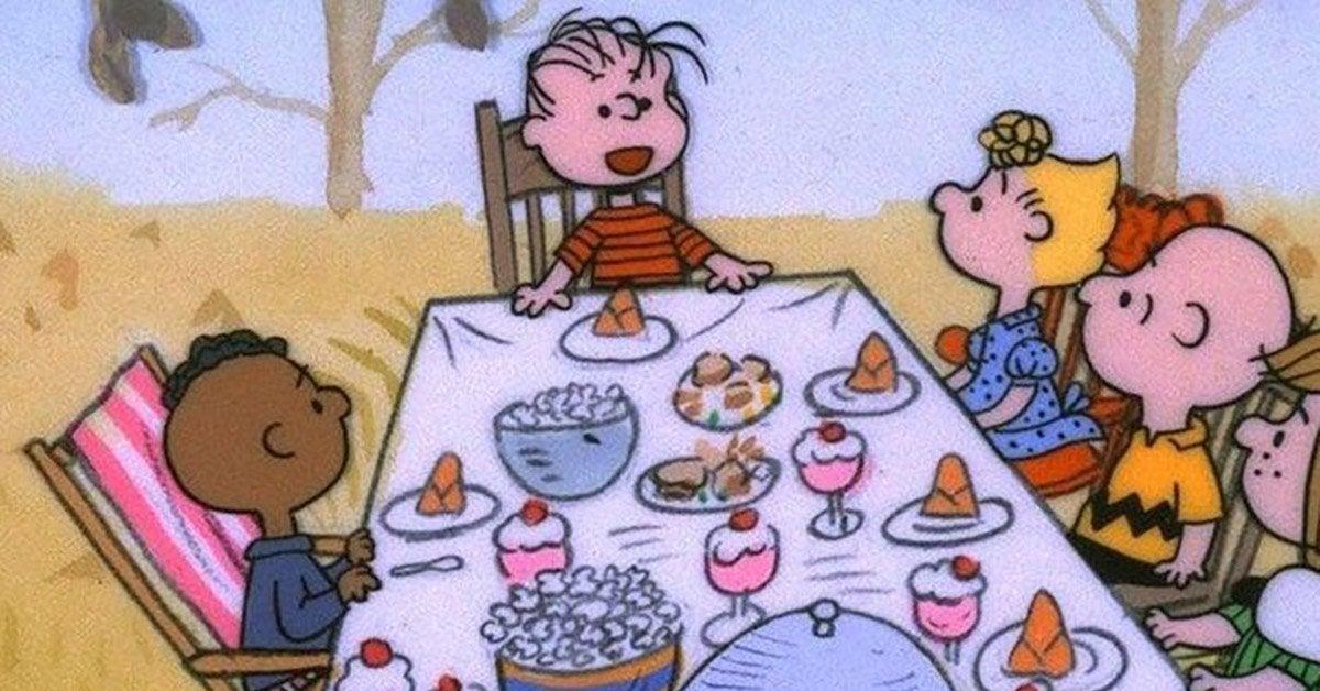 charlie brown thanksgiving franklin dinner scene