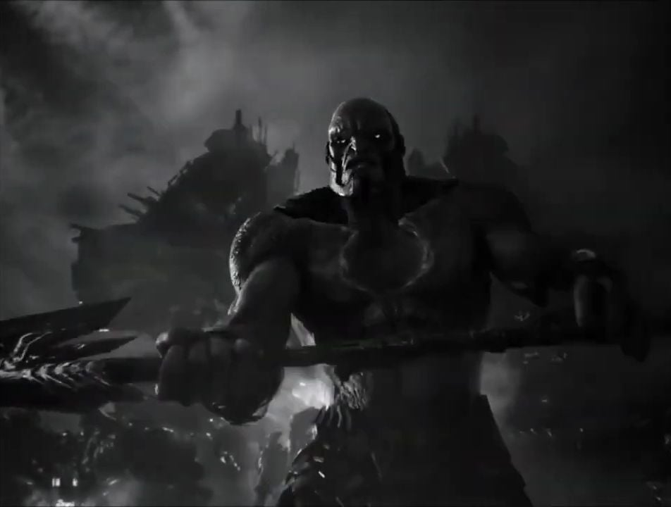 darkseid black and white